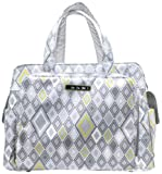 Ju-Ju-Be Be Prepared Messenger Diaper Bag with Insulated Bottle and 3 Zippered Pockets, Silver Ice