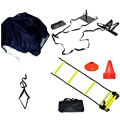 Strength & Agility Training Cones Kit ~ Speed Ladder Power Sled Strength Agility... by Bluedot Trading
