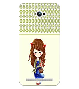 PrintDhaba Cute Girl D-3408 Back Case Cover for ASUS ZENFONE MAX ZC550KL (2016) (Multi-Coloured)
