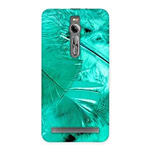 Impressive Feather Cyan Back Case Cover for Asus Zenfone 2