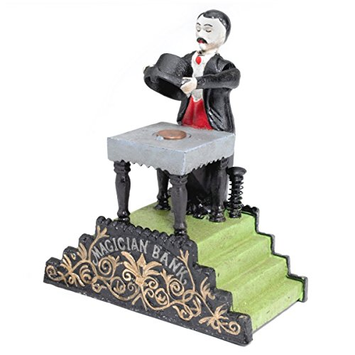 Design Toscano Maitland the Magician Authentic Foundry Iron Mechanical Bank