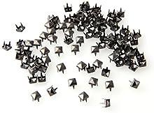 100X Apliques Remaches 5mm Gris Oscuro Cuadrado Tachuelas Bolsa/Calzado/Guante