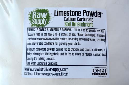 25 Pounds - Calcium Carbonate - Limestone Powder - Rock Dust - Great Soil Amendment And Fertilizer With Endless Uses - Bulk