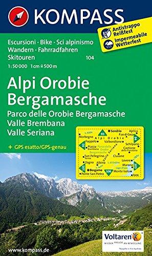 Carta escursionistica n. 104. Foppolo, valle Seriana