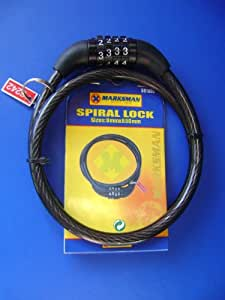 BIKE CYCLE STEEL 8 X 650mm CABLE COMBINATION LOCK