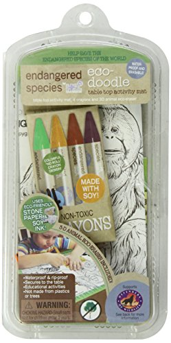 Endangered Species by Sud Smart  Eco-Doodle Table Top Activity Mat Set - 1
