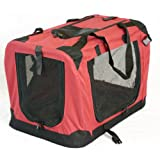 "Portable Soft Pet Carrier or Crate or Kennel for Dog, Cat, or other small pets. Great for Travel, Indoor, and Outdoor (Maroon Red, Medium: 24""x16\""x16\"")"
