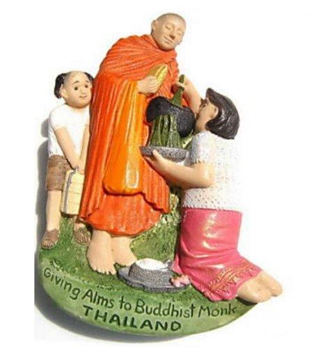 仏教の僧侶施しタイ 3 D ガレージ グッズ マグネットを与える