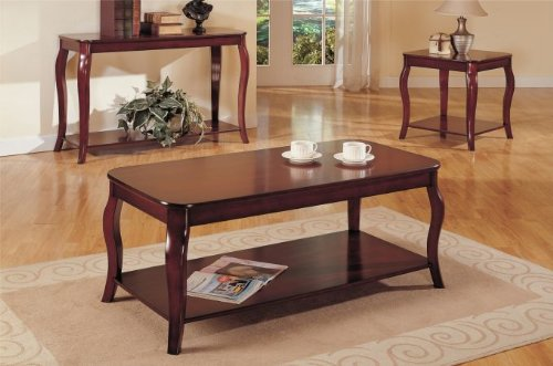 Cheap Beautiful Wooden End Table in Cherry Finish #PD F61154 (f6154)