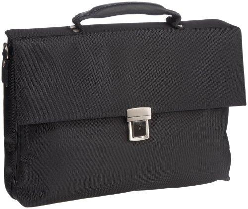 Leonhard Heyden Unisex Adult Lh6887 Iq Briefcase M Briefcase Work Bag Black Lh6887-001