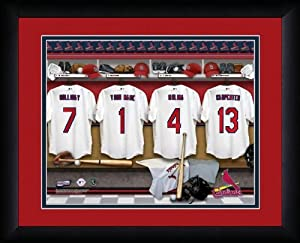 MLB Personalized Locker Room Print Black Frame Customized St Louis Cardinals by You