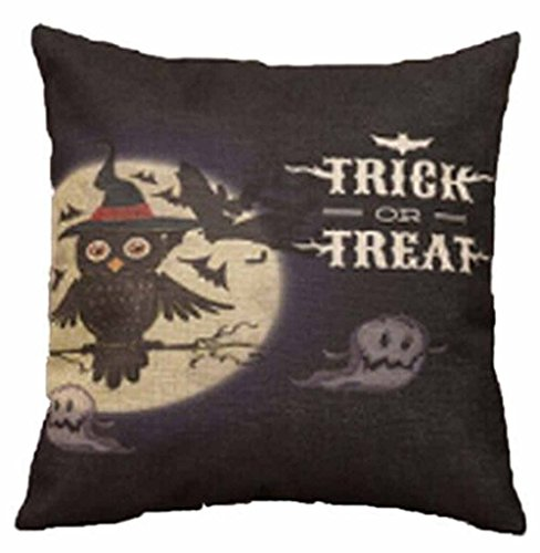 Halloween Trick or Treat Throw Pillow Cover