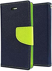 RJR Mercury Goospery Wallet Diary Style Flip Back Case Cover For For Samsung Galaxy S6-Blue&Green
