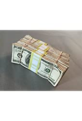 PROP MONEY USED, STAINED & DISTRESSED LOOK $50,000 Blank Paper Filler Pack for Movie, TV, Videos, Advertising & Novelty