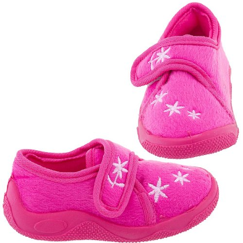 Cheap Chatties Bright Chatties Pink Floral Toddler Slippers for Girls (B005Y4S4WI)