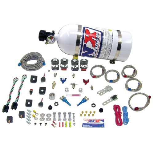 Nitrous Express 20124-15 50-150 HP x 2 Dual Stage EFI with 15 lbs. Bottle for Ford