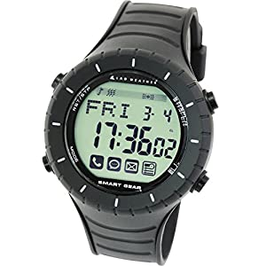 [Lad Weather] Smart Watch for iPhone and Android / Bluetooth 4.0LE SNS Notices from smartphone for Men