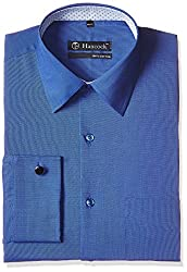 Hancock Men's Formal Shirt (43315Royal Blue_38)