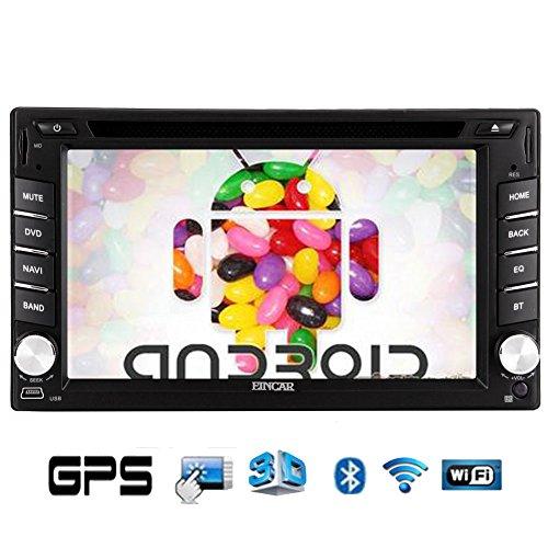 "7 ""capacitivo schermo multi-touch Doppio 2 DIN Pure Android 4.2 Sistema CD Autoradio DVD GPS Navigation + Wi-Fi + iPod + Bluetooth + Radio"