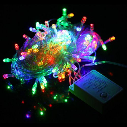 S&D Big Sale!!!10M Multicolour 100 Led 8-Modes String Light Strip Bulb Lamp With Us Plug 110V For Party Chrismas Wedding