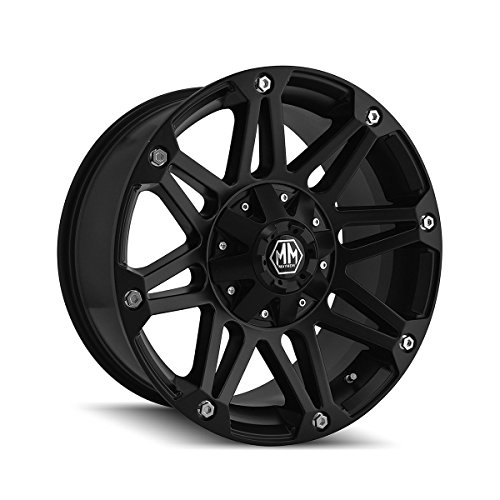 Mayhem Riot 17 Black Wheel / Rim 5x5 & 5x5.5 with a 10mm Offset and a 87 Hub Bore. Partnumber 8010-7852MB (2001 Dodge Ram 1500 Rims compare prices)