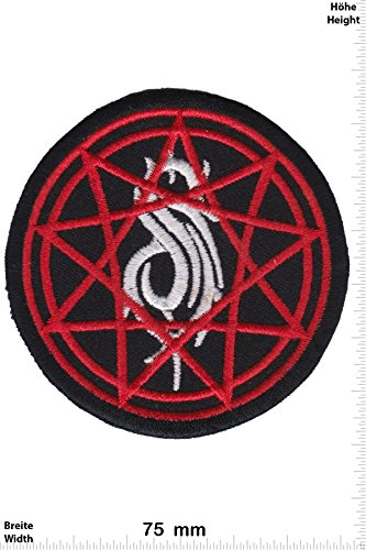 Patch - Slipknot - sign -Nu-Metal Alternative-Metal-Band - Musicpatch - Rock - Vest - Iron on Patch - toppa - applicazione - Ricamato termo-adesivo - Give Away