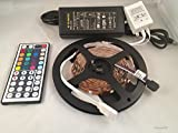 16.4ft RGB Color Changing Kit with LED Flexible Strip, Controller with 44-button Remote Controller + 12 Volt Power Supply