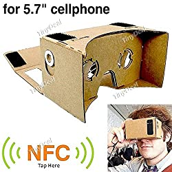 Assembled DIY Google Cardboard Virtual Reality 3D Glasses w/ NFC Tag for 4-5.7 inch Cellphones EPATH-343875
