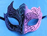 PINK & BLACK GOTHIC VENETIAN MASQUERADE CARNIVAL PARTY EYE MASK
