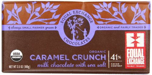 Equal Exchange Organic Milk Chocolate Caramel Crunch With Sea Salt, 3.5 Ounce (Pack Of 12)