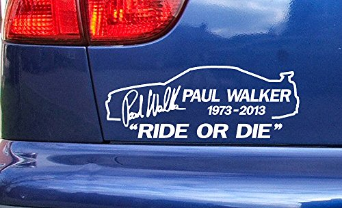 paul-walker-skyline-ride-or-die-rip-memorial-tribute-vinyl-die-cut-sticker-decal-ref10-black-200mm-x