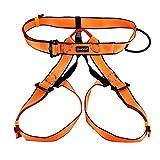 【ノーブランド品】アウトドア 登山 クライミングハーネス 安全ハーネス  オレンジ