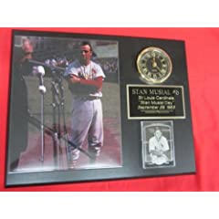 J&C Baseball Clubhouse JC000092 Stan Musial St Louis Cardinals Collectors Clock... by J & C Baseball Clubhouse