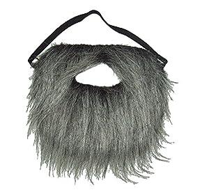 Amazon.com : Gray Faux Fake Pirate Buccaneer Old Man Beard ... Old Man Fake Beard