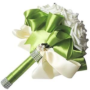 SODIAL R Beautiful Wedding Bouquet Bridal Bridesmaid Flower Wedding