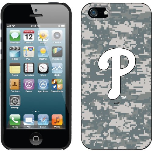 Best Price Philadelphia Phillies - Digi Camo P design on a Black iPhone 5 Thinshield Snap-On Case by Coveroo