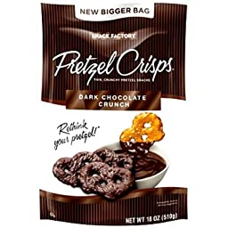 Snack Factory Pretzel Crisps Dark Chocolate Crunch 18 oz