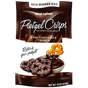 Snack Factory Pretzel Crisps Dark Chocolate Crunch 18 oz