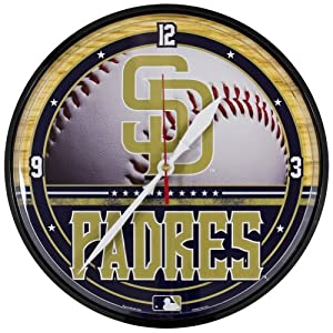San Diego Padres - Baseball Clock by Old Glory