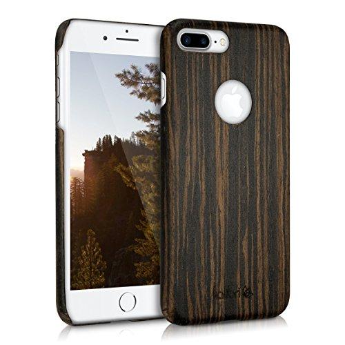 kalibri-Holz-Case-Hlle-fr-Apple-iPhone-7-Plus-Handy-Cover-Schutzhlle-aus-Echt-Holz-und-Kunststoff-aus-Lindenholz-in-Dunkelbraun