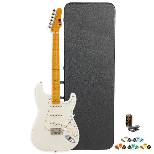 Esp St St-213M-Ow-Kit Electric Guitar With Tuner, Picks And Chroma Cast Hard Case - Maple - Olympic White