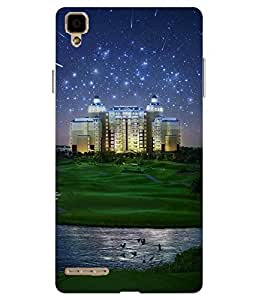 Snazzy Printed Multicolor Hard Back Cover For Oppo F1 Selfie