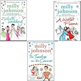 Milly Johnson Collection 3 Books Set, (White Wedding, A Winter Flame and The Teashop on the Corner) Milly Johnson