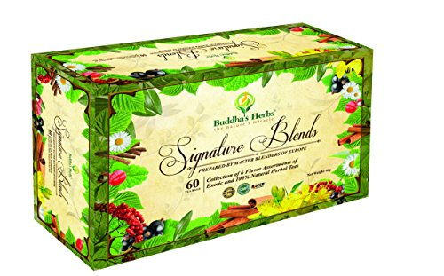 Premium Tea Sampler - Herbal Tea Sampler - 6 Flavor Tea Gift Set - 60 Count Tea Bags - Tea Gifts - Tea New Year Gifts