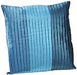Shahenaz Home Shop Saibya Three Pintex Poly Dupion Cushion Cover - Turquoise