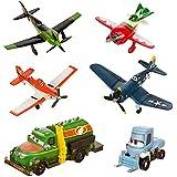 Disney Planes Figurines Avion Set - DUSTY, SKIPPER, RIPSLINGER, EL CHUPACABRA CHUG, DOTTIE (PVC, Plastic)
