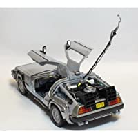 Welly Back To The Future Part 1 DeLorean Time Machine 1:24 Scale Diecast Model Car