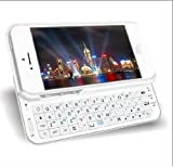 Abco Tech® Bluetooth Sliding Keyboard iPhone 5 Case - White
