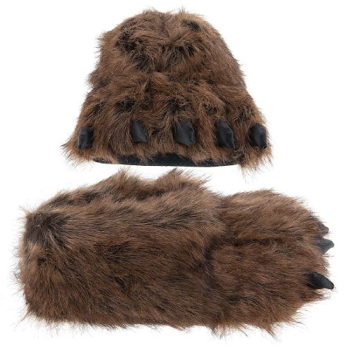 Cheap Grizzly Bear Paw Slippers for Women and Men (B0050CNL0O)