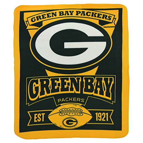 NFL Marquee Logo Lightweight Fleece Blanket (Green Bay Packers) (Packer Cheese Heads compare prices)